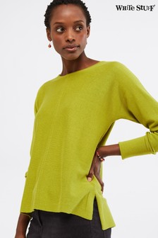 White Stuff Green Masterful Jumper