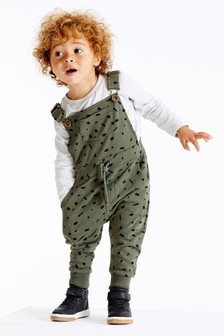 All Over Print Dungarees With T-Shirt Set (3mths-7yrs)