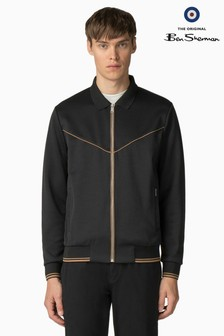 Ben Sherman Main Line Black Tricot Track Top