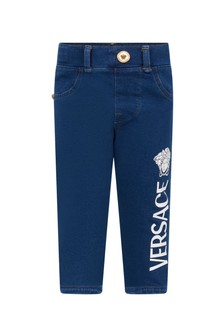 Versace Baby Boys Blue Cotton Jeans