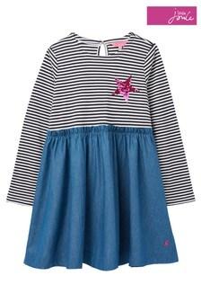 Joules Blue Hampton Frill Dress