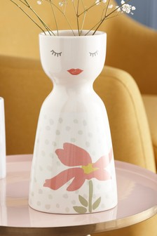 Face Ceramic Vase
