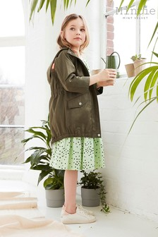 Mint Velvet Khaki Stripe Back Parka Jacket
