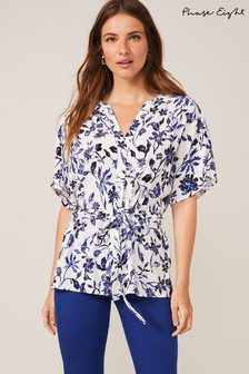 Phase Eight Blue Cosette Paisley Blouse