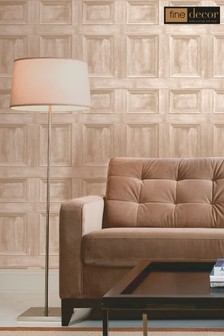 Distinctive Wood Panel Sidewall Wallpaper by Fine Décor