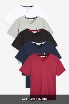 Logo V-Neck T-Shirts Five Pack