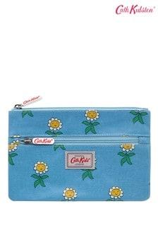 Cath Kidston Kids Grey Petal Flowers Double Zip Pencil Case