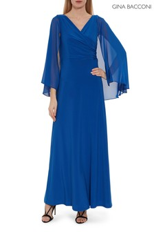 Трикотажное платье макси с накидкойGina Bacconi Piera