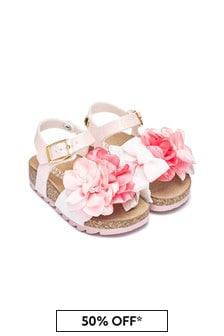 Monnalisa Girls Pink Sandals
