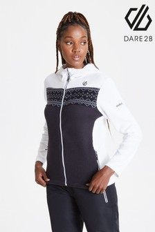 Dare2B White Herald Full Zip Sweater