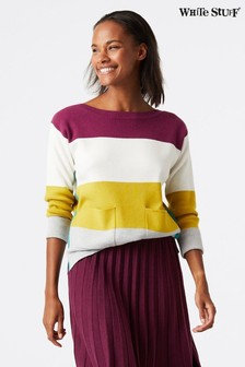 White Stuff Purple Orchard Colourblock Jumper