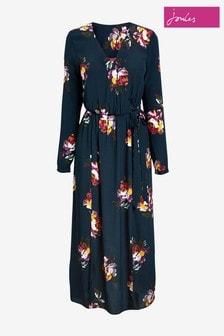 Joules Blue Chloe Fixed Wrap Dress