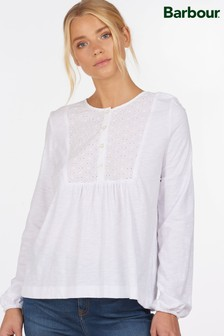 Barbour® Coastal White Broderie Anglaise Bib Penfor Top