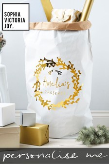 Personalised Mistletoe Christmas Sack by Sophia Victoria Joy
