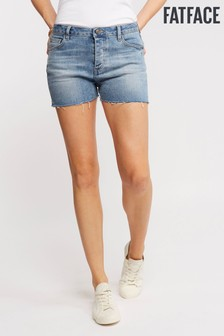 FatFace Blue Frayed Edge Denim Short