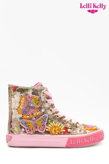 Lelli Kelly Gold Clemantis Butterfly High Top Trainers