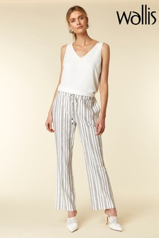 Wallis Black/White Stripe Trousers