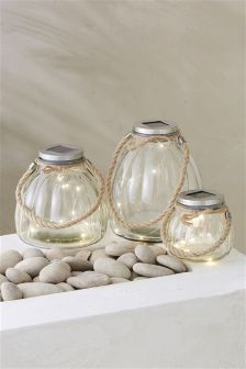 Set of 3 Glass Lanterns