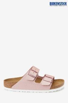 Birkenstock® Pink Metallic Arizona Sandals