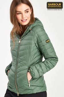 Barbour® International Quilted Hooded Ringside Jacket