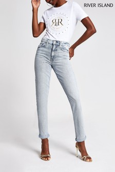 River Island Mid Auth Mom Stormi Jeans