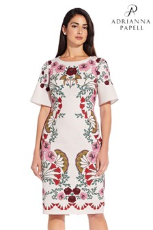 Adrianna Papell Pink Folkloric Beauty Printed Dress