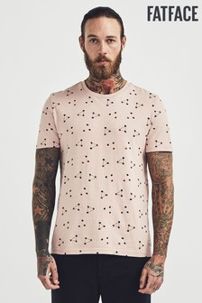 FatFace Pink Folk All Over Atom Graphic T-Shirt