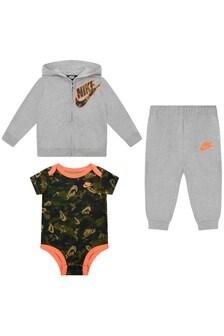 Baby Boys Grey & Camo Cotton Set