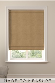 Soft Velour Tan Brown Made To Measure Roman Blind
