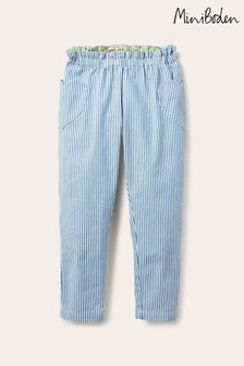 Boden Blue Pull-on Trousers