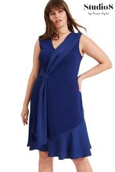 Studio 8 Blue Paige Drape Dress