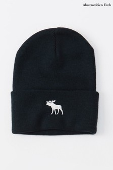 Abercrombie & Fitch Navy Moose Beanie Hat