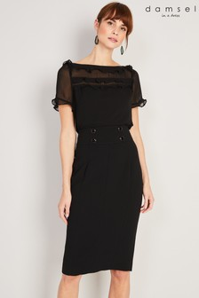Damsel In A Dress Black Consta Frill Blouse