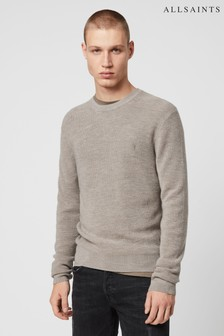 AllSaints Taupe Ivar Merino Crew Sweater