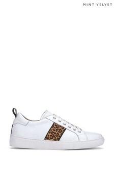Mint Velvet Allie White Leopard Trainer