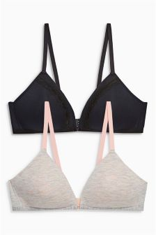 Light Pad Non Wire Teen Bras Two Pack