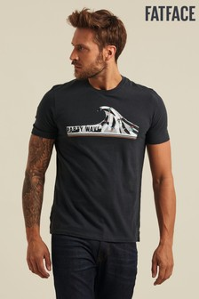 FatFace Grey Party Wave Graphic T-Shirt