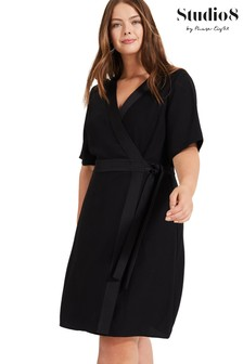 Studio 8 Black Monica Wrap Dress