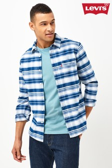 Levi's® Blue Checked Western Shirt