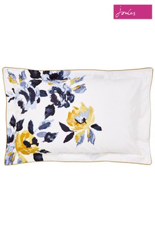 Joules Galley Floral Cotton Pillowcase