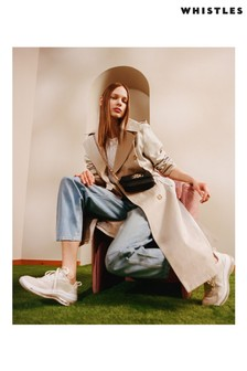 Whistles Neutral Relaxed Rilet Trench Jacket
