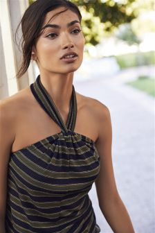 Striped Metallic Vest