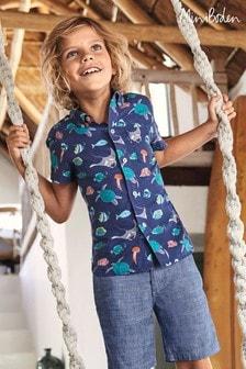 Boden Navy Holiday Shirt