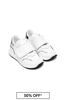 Dolce & Gabbana Kids Baby Boys White Leather Trainers