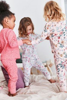 3 Pack Floral Snuggle Pyjamas (9mths-12yrs)