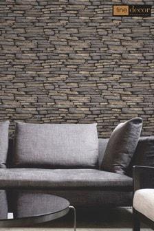 Distinctive Slate Sidewall Wallpaper by Fine Décor