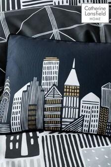 Catherine Lansfield Black Citylife Cushion