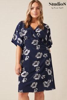 Studio 8 Blue Lucinda Embroidered Dress