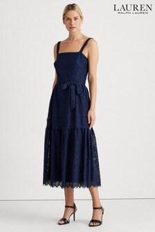 Lauren Ralph Lauren® Navy Lace Maxwell Midi Dress