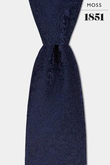ربطة عنق دوامة مشجرة كحلية من Moss 1851